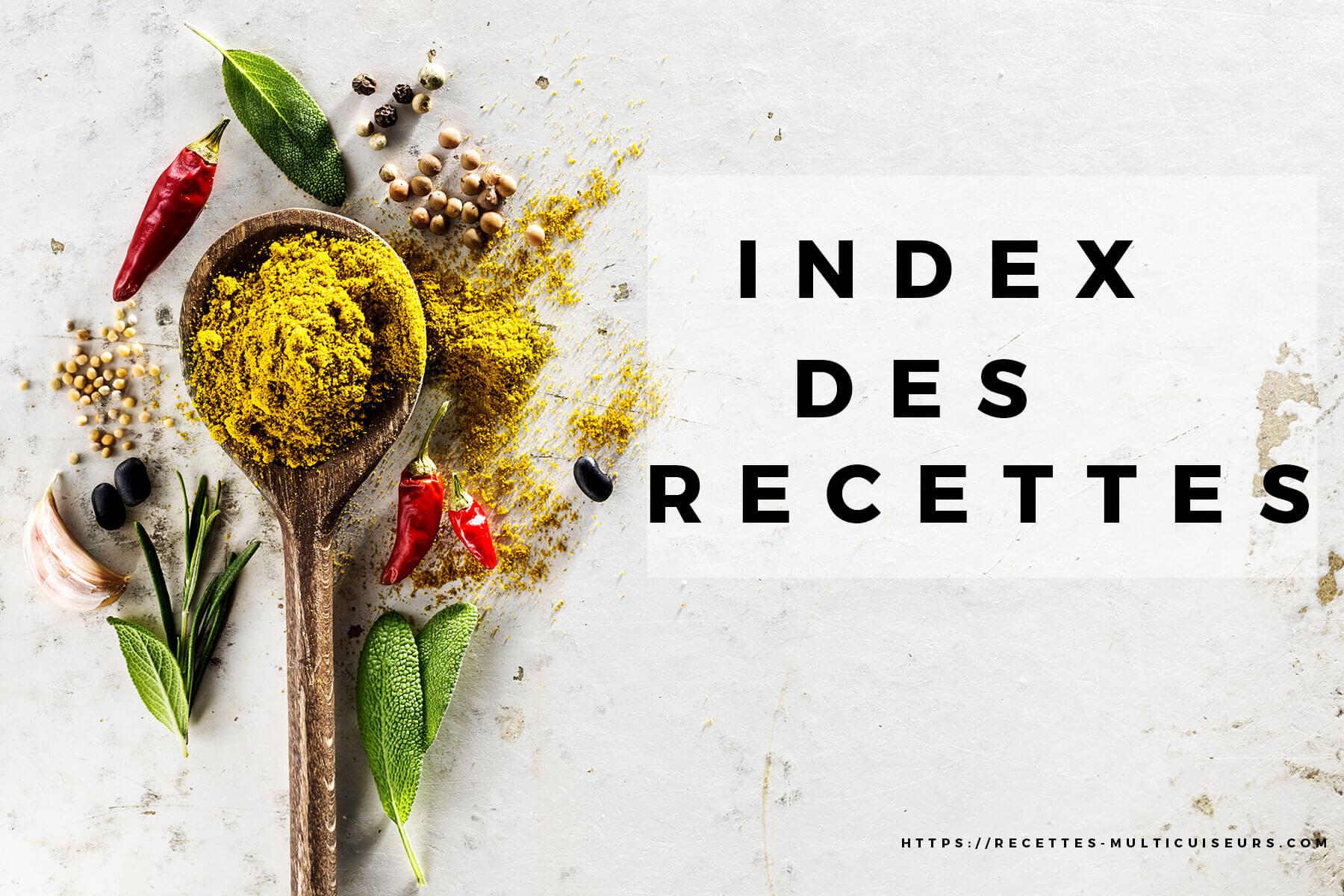 index recettes multicuiseurs